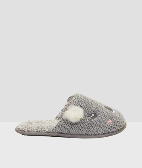 Knitted koala slippers