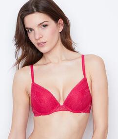 Push-up-bra pink.