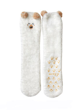 Calcetines de oso blanco.