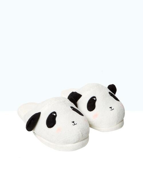 Zapatillas oso panda de fantasía