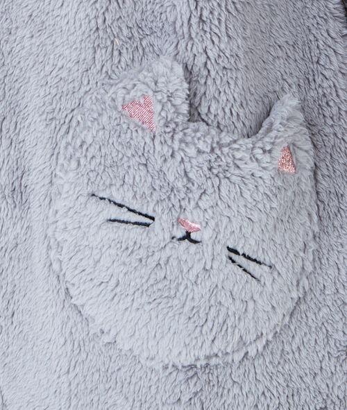 Mono tejido peluche orejas de gato
