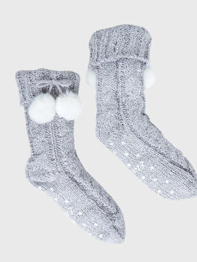 Interior socks grey.