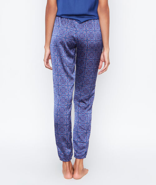 Printed satine pyjama pants