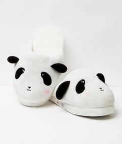 Mules 3d , imprimées panda noir / écru.