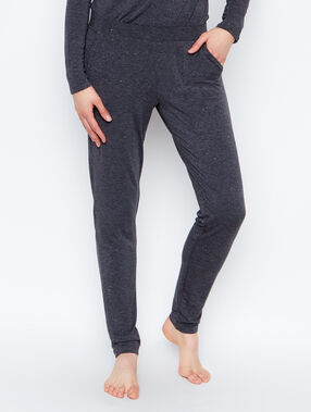 Pantalon façon jogging anthracite.