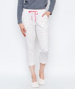 Spodnie 3/4 w kropki blanc.