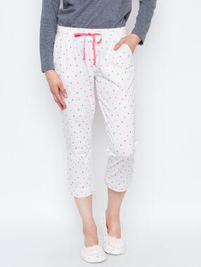 Pyjamahosen weiß.