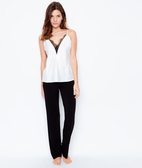Lace pyjama top;${refinementColor}