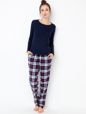 Pyjama top navy blue.