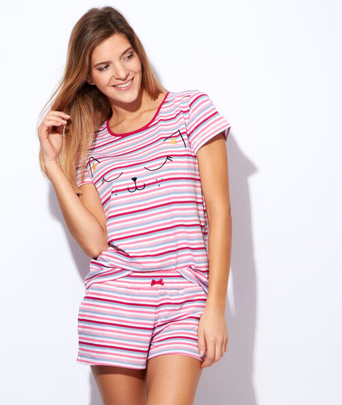 Kurzarmelige pyjama oberteile;${refinementColor}