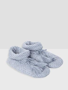 Zapatillas de punto c.gris.