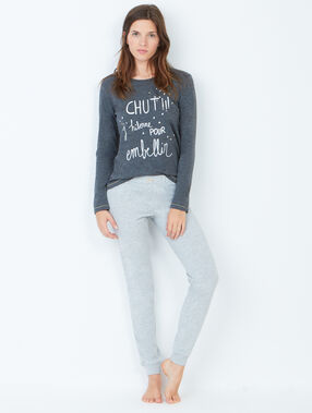 Spodnie fason jogging gris clair.