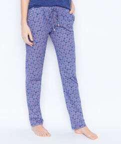 Printed trouser blue.