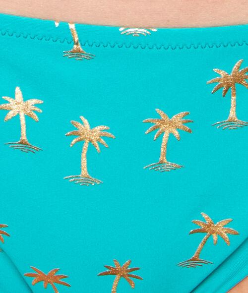 Culotte de maillot imprimé palmier;${refinementColor}