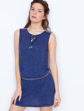 Embroided nightdress blue.