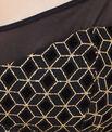 Bandeau sans armatures tulle flocké et imprimé glitter géométrique