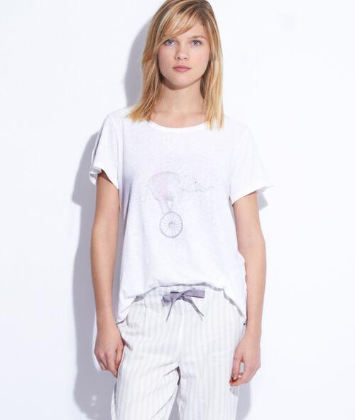 Top lin et coton imprimé éléphant