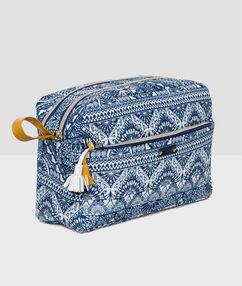 Trousse pompon blue.