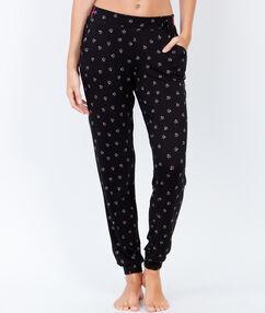 Spodnie od piżamy w deseń noir.