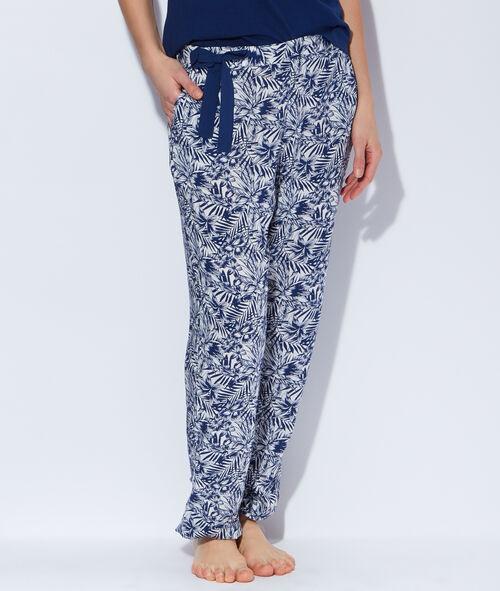 Pantalon imprimé tropical