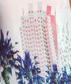 Maillot de bain 1 pièce bretelles amovibles imprimé palmier