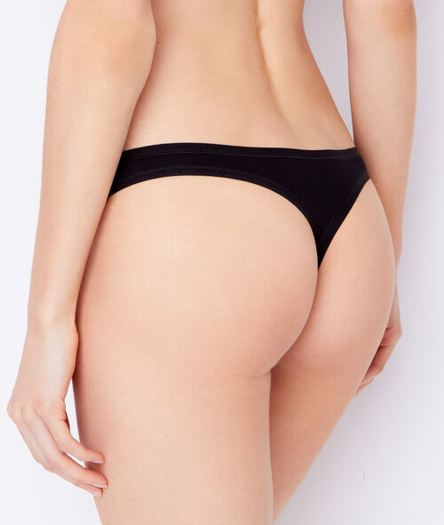 Pack of 3 coton thongs;${refinementColor}