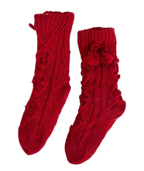 Chaussettes chaussons maille torsadée