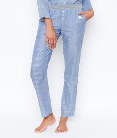 Spodnie w paski bleu.