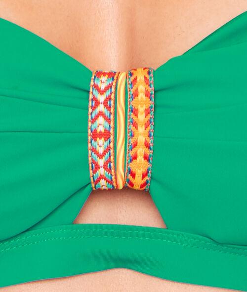Haut de maillot de bain bandeau façon bustier bracelet aztèque;${refinementColor}
