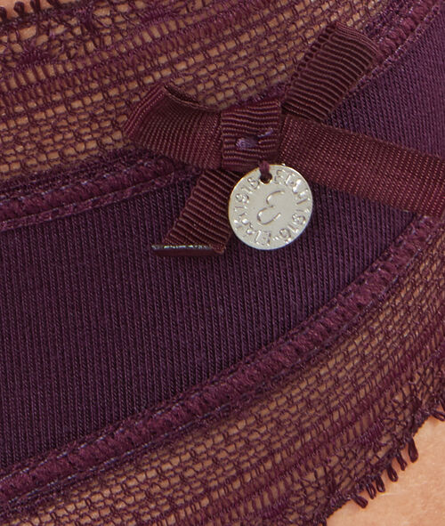 Culotte modal doux, bord dentelle
