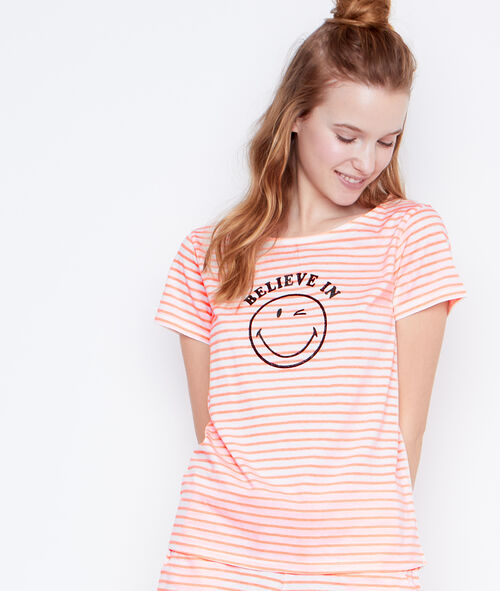 T-shirt message Smiley