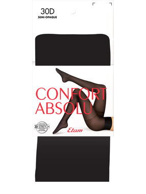 Semi-opaque tights 30d black.