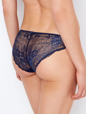 Lace knickers navy blue.