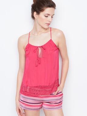 Satine lace top pink.