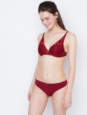 Knickers burgundy.