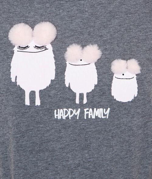 T-shirt imprimé monstres