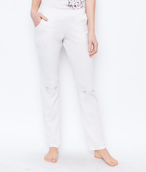 PANTALON IMPRIME CHAT;${refinementColor}