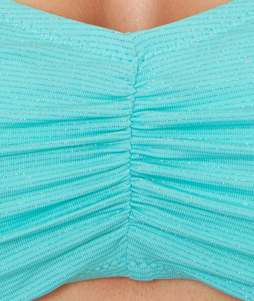 Haut de bain bandeau en fibres métalisées