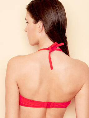 Bandeau bra red.