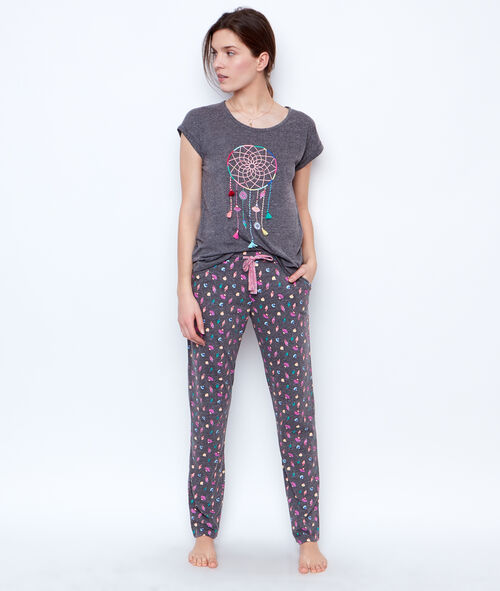 PRINTED TROUSER;${refinementColor}