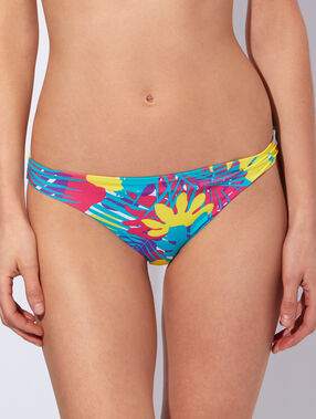 Printed bikini bottom multicolor.