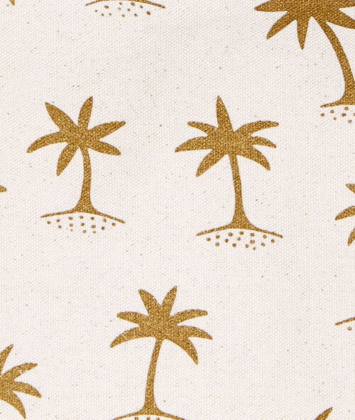Pochette tissu imprimé palmiers;${refinementColor}