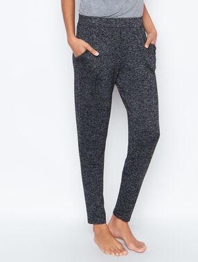 Pantalon maille douche chinée gris.