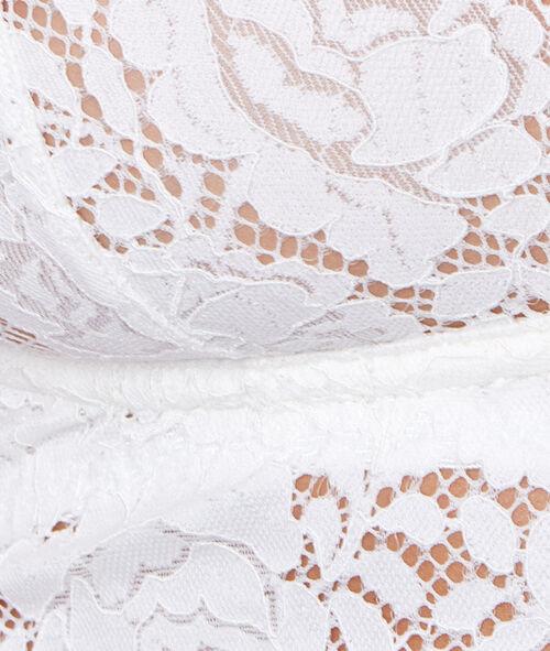Triangle armaturé dentelle florale, détail noeud amovible;${refinementColor}