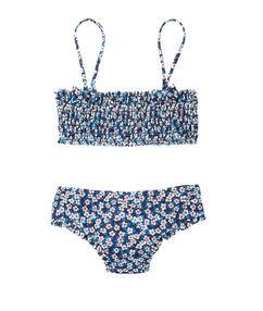 Dwuczęściowy kostium kąpielowy dla dziewczynki 4-8 lat bleu.