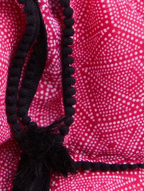 Pink scarf pink.