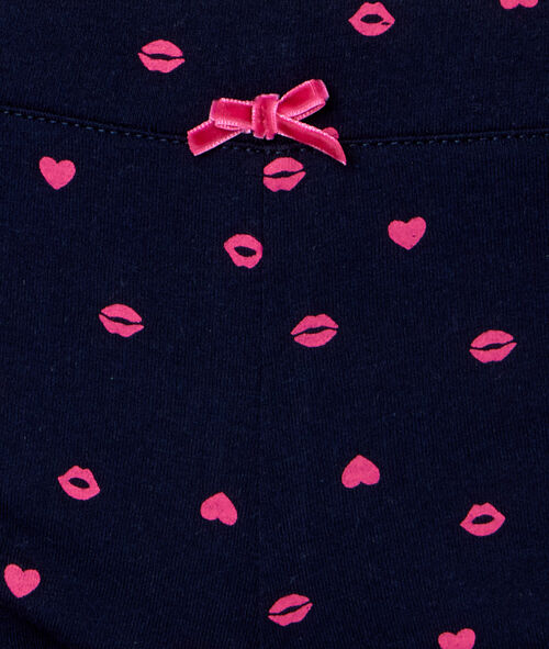 Printed lips pyjama leggings;${refinementColor}