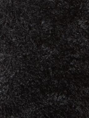 Chaussettes bi-matière toucher peluche noir.
