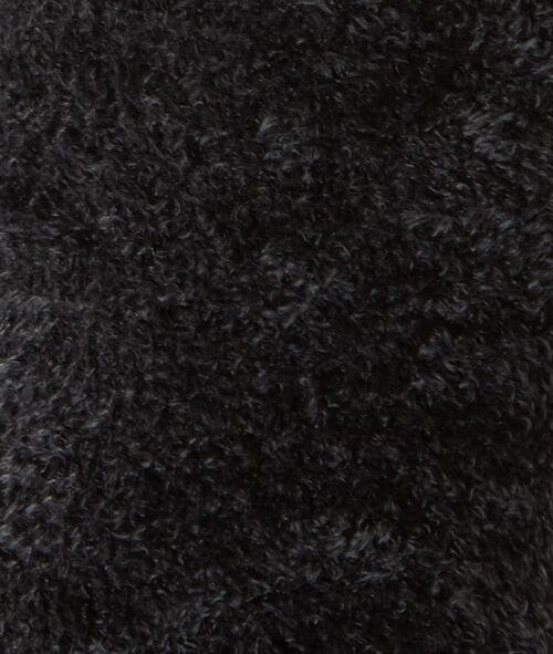 Chaussettes bi-matière toucher peluche