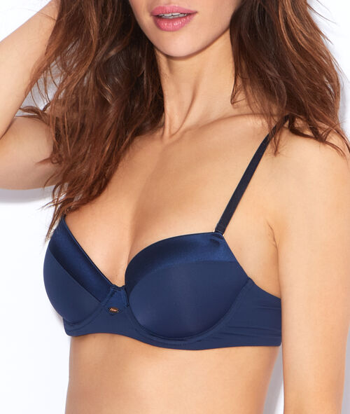 Micro padded 1/2 cup bra;${refinementColor}